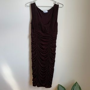 Calvin Klein Brown Scrunched Dress sz 4